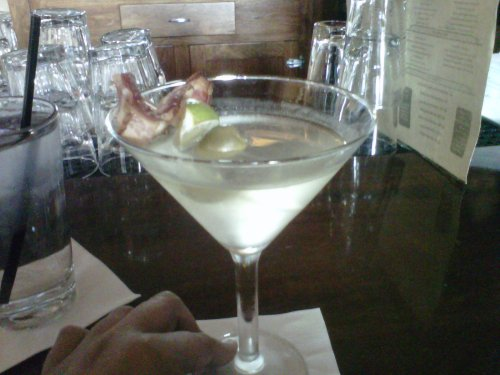 Bacon-infused Martini!
